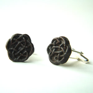 cufflinks in bog oak