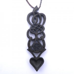 love spoon necklace in Scottish bog oak