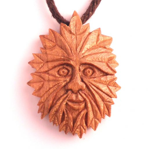 green man pendant in Edinburgh almond