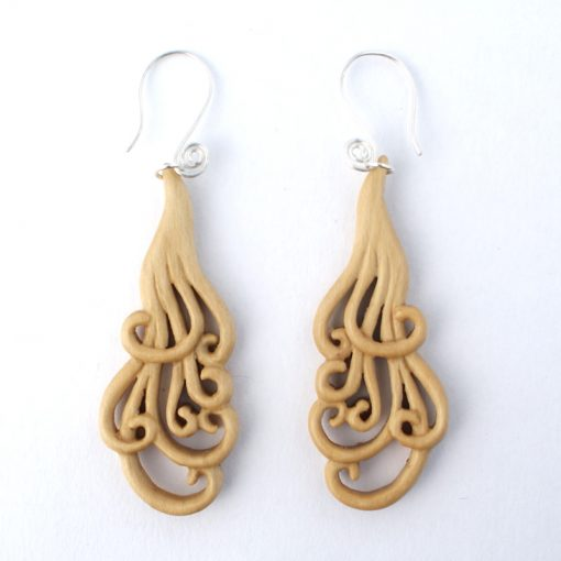 small curling locks earrings holly
