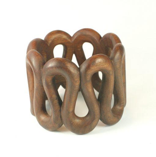 serpentine bangle walnut