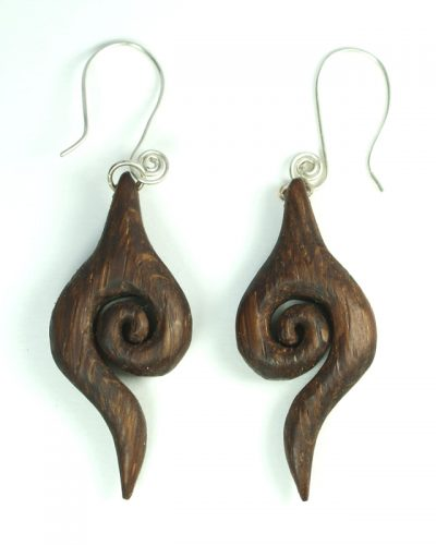 give-receive earrings bog oak