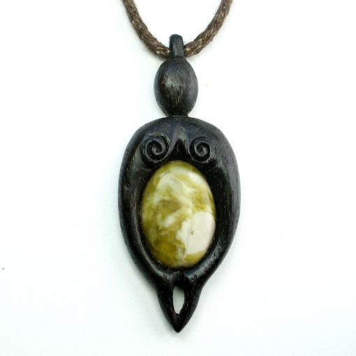 mother nurture pendant bog oak marble