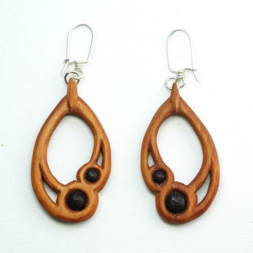 small drop earrings yew purpleheart