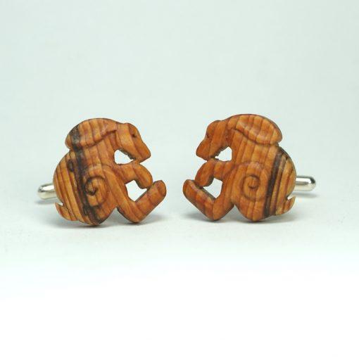 hare cuff links yew