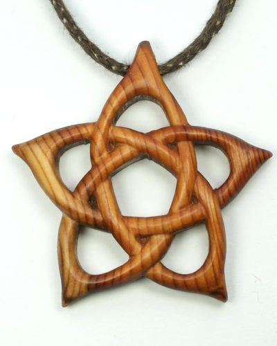 Pentacle pendant in yew