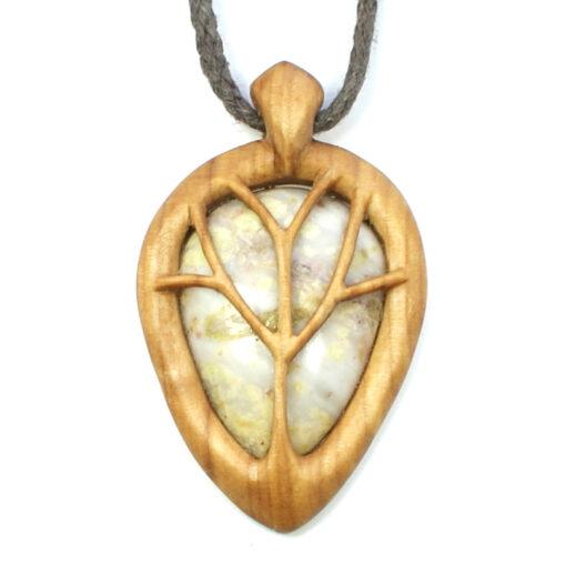 Tree necklace rowan marble 1