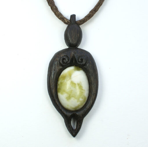mother nurture pendant bog oak marble