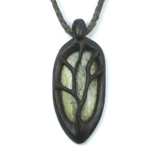 tree necklace bog oak marble 2