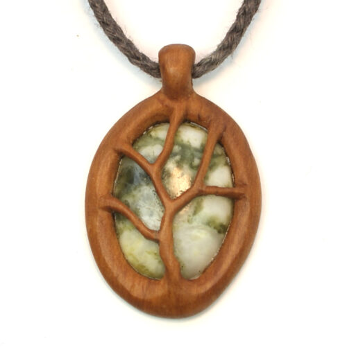 tree necklace hawthorn marble