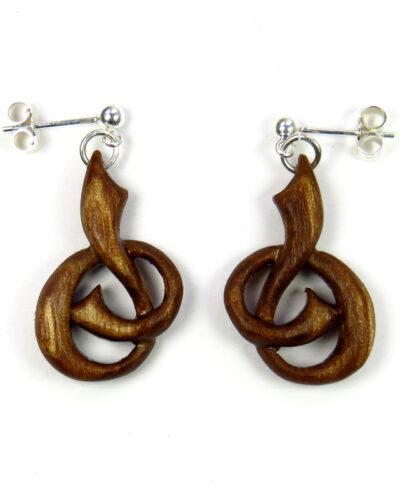 Slipknot earrings walnut